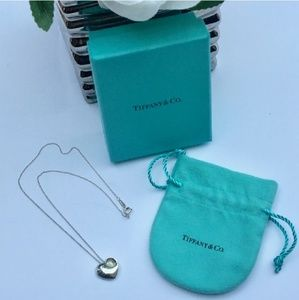 Authentic Tiffany & Co. Puffy Heart Necklace